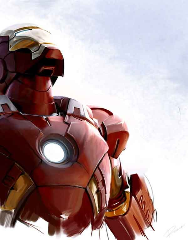 Iron Man Looking at the Sky