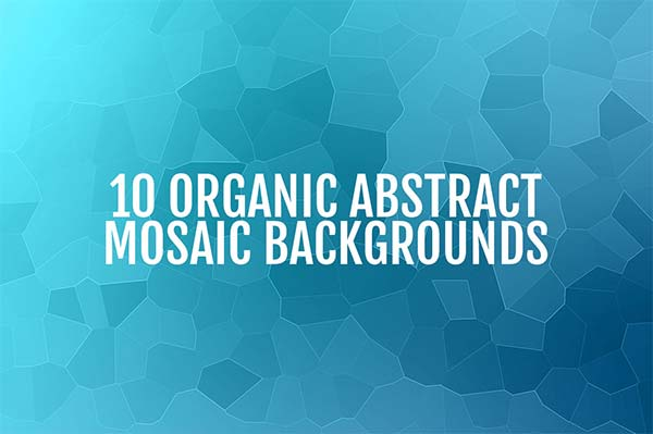 Organic Abstract Mosaic Texture Backgrounds