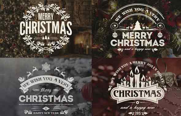 Christmas & New Year Badges & Labels