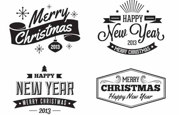 Christmas Badges and Label Vectors