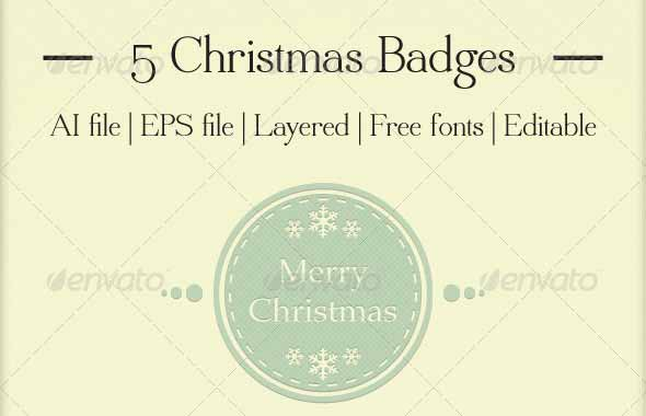 Christmas Badges EPS