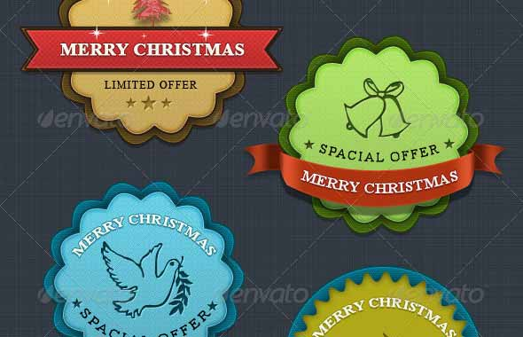 Christmas Badges PSD Templates