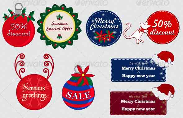 Christmas Badge Template PSD
