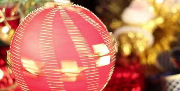 Red Christmas Bauble Spinning