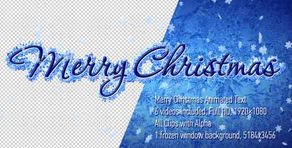 Merry Christmas Animated Text Pack