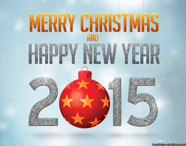 Merry Christmas and Happy New Year 2015 Wallpaper