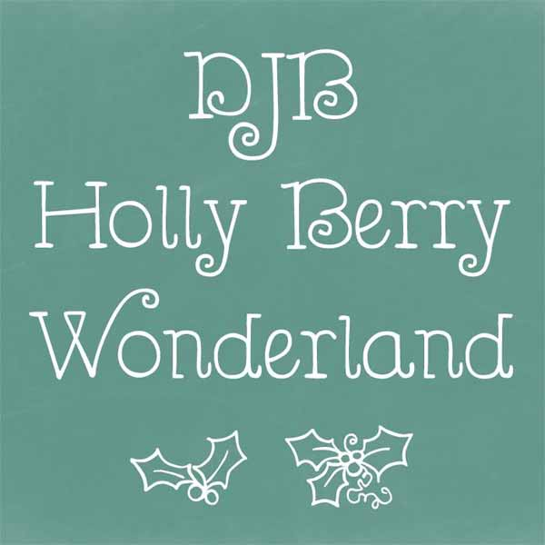 DJB Holly Berry Wonderland Font
