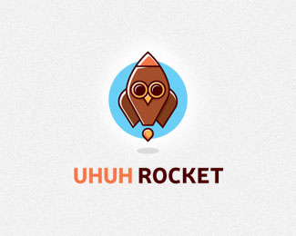 Uhuh Rocket Logo Design