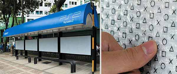 Playstation Bus Stop Advertising