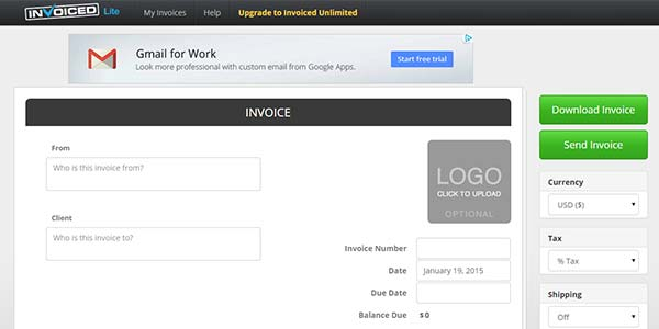 Free Invoice Generator by Invoiced
