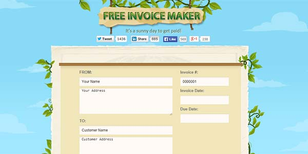 Free Invoice Maker | Free Invoice Template