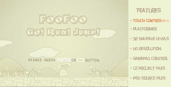 FooFoo Go! Run! Jump! Traditional 2D Platform Game
