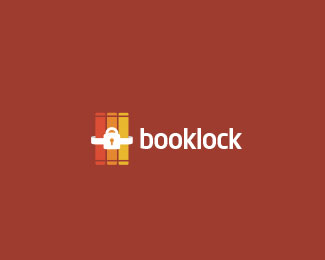 Book Lock Logo Design