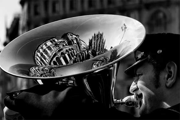 Milan Reflected In A Tuba