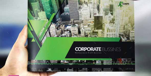 Multipurpose Modern Corporate Geometries Brochure