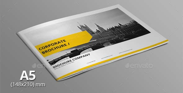 Corporate A5 Landscape Brochure Template