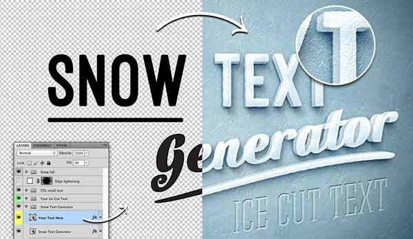 10+ Photoshop Generators for Creating Instant Text Effects