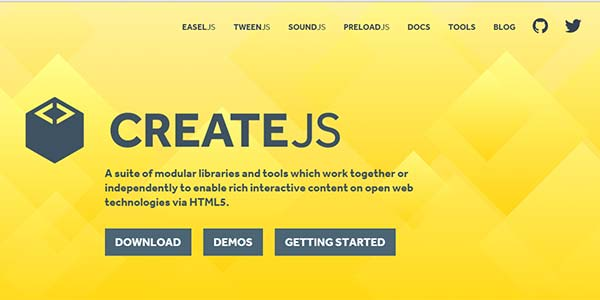 CreateJS - Javascript Libraries and Tools designed for HTML5