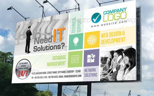 Corporate Business Billboard Signage