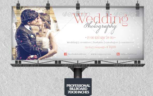 Wedding Photography Billboard Template