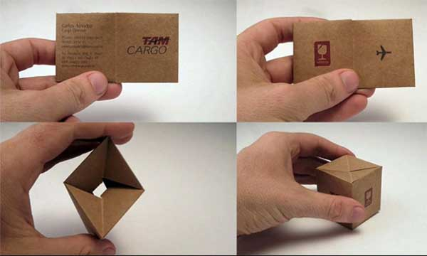 Tam Cargo Folded Business Cards