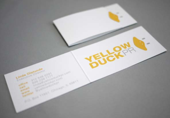 Yellow Duck PR Business Card