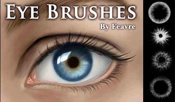 Artificial Contact Lens – 10 Free Eye Photoshop Brushes