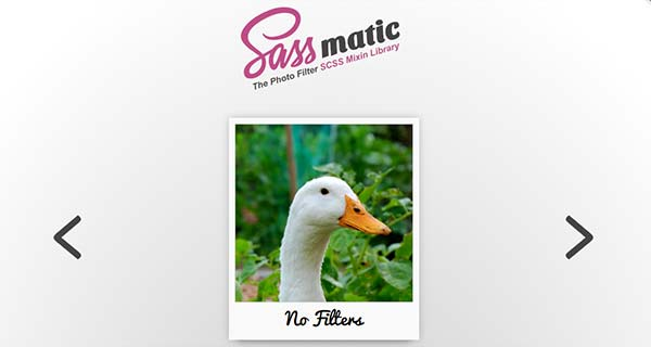 Sassmatic - The Photo Filter SCSS Mixin Library