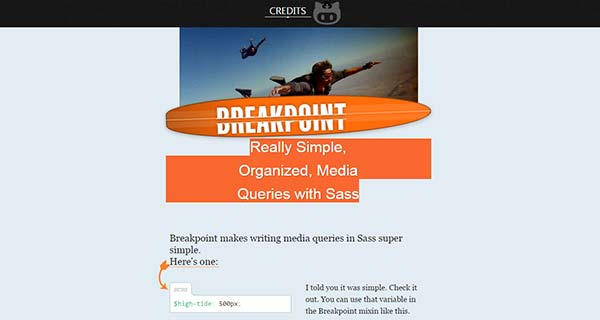 Breakpoint - Really Simple, Organized, Media Queries with Sass