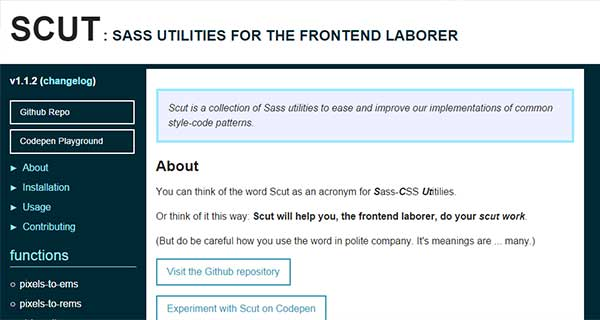 SCUT - Sass Utilities for Frontend Laborer