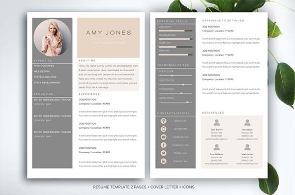 Design resume templates word