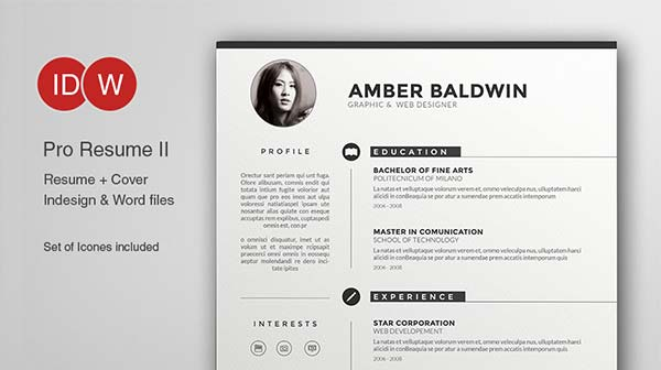 Resume Template Adobe Illustrator 13