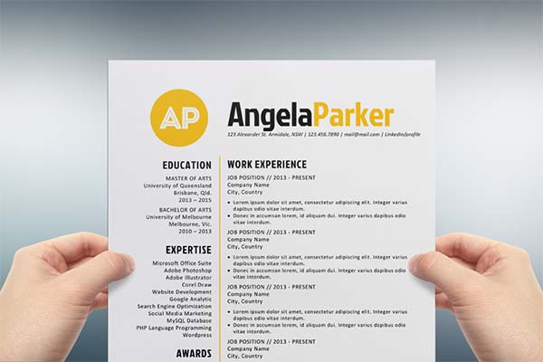 Microsoft Word Resume Template Free. Download Free Resume Format