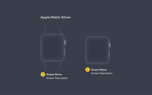 Apple Watch UX Diagram Kit
