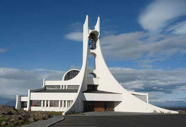Church in Stykkishólmskirkja, Iceland