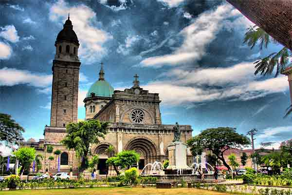 Manila Cathedral in Intramuros, Manila, Philippines