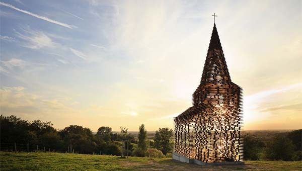 See-through Church in Limburg, Belgium