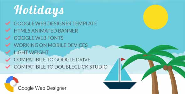 Holidays - Ad Banner Template GWD