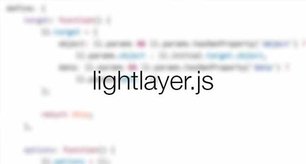 LightLayer - A Simple Responsive Lightbox & Dialog Script