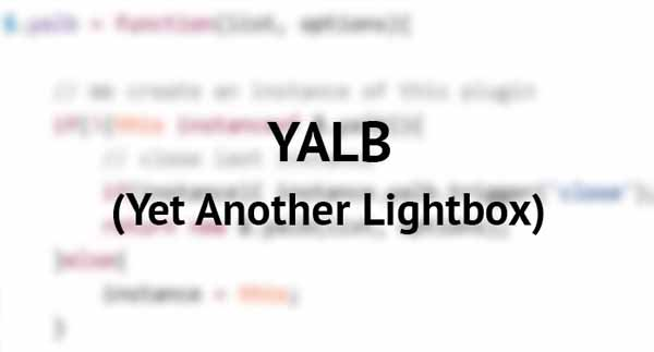 Yalb - Yet Another LightBox