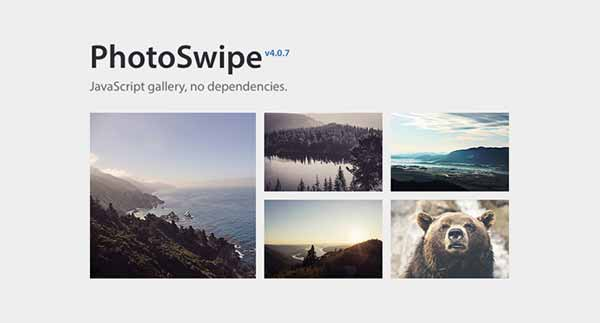 PhotoSwipe - JavaScript Gallery, No Dependencies