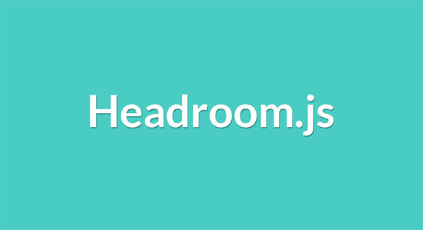 Headroom.js - Hide your header on scroll