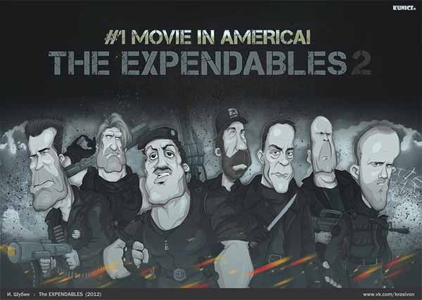 The Expendables 2 Caricature