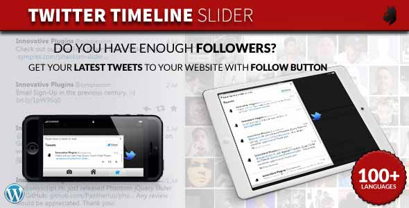 Twitter Timeline Slider for WordPress