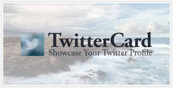 TwitterCard - Showcase your Twitter Profile