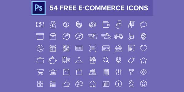 54 Free E-Commerce Icons