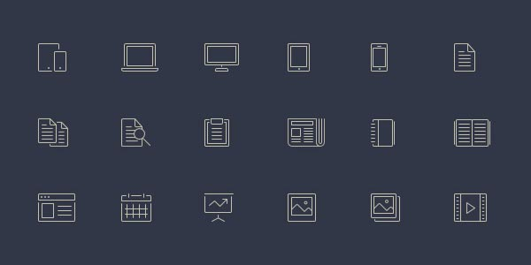 Download 100 Free Line-Style Icons