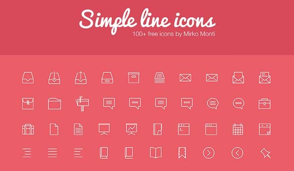 20 Simply Thin Line Icons for Free Download