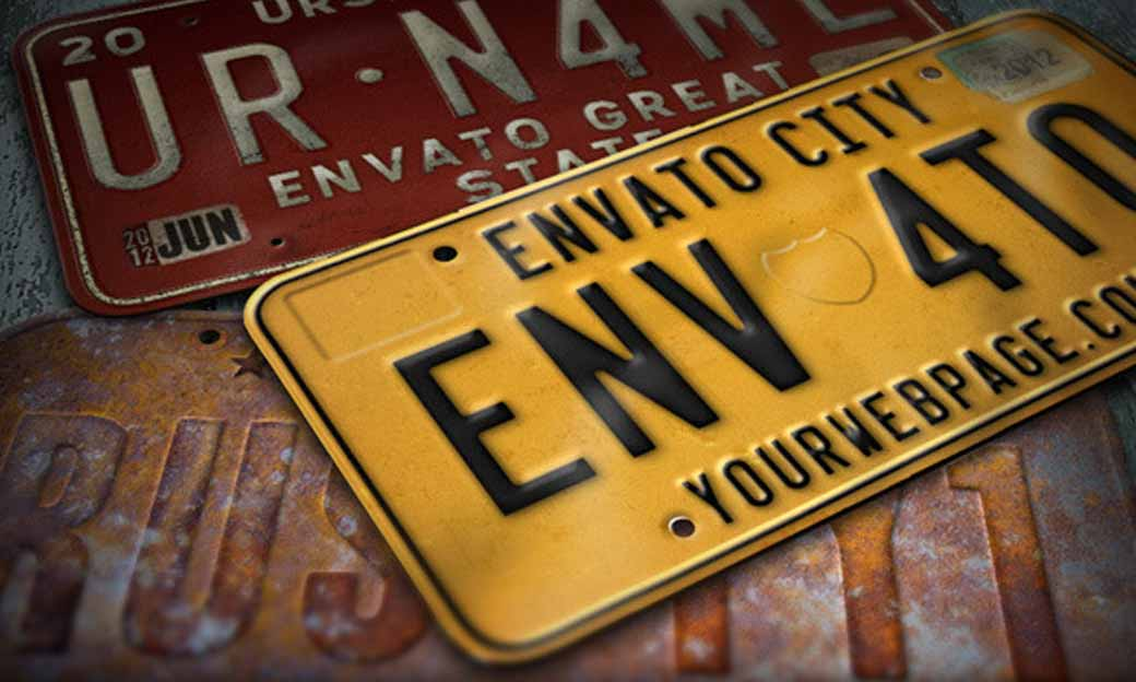 Photoshop Action of the Day: License Plate Editor