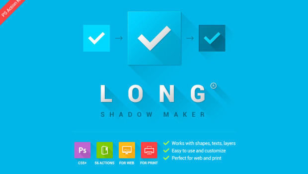 Photoshop Action of the Day: Long Shadow Maker